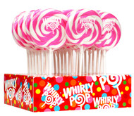 "3"" Whirly Lollipops Pink 60 units 1 Case 1.5oz"