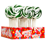 "3"" Whirly Lollipops Green 60 units 1 Case 1.5oz"