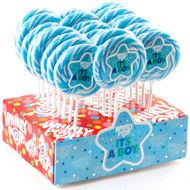 "3"" Whirly Lollipops Its a Boy 60 units 1 Case 1.5oz"