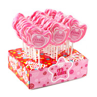 "3"" Whirly Lollipops Its a Girl 60 units 1 Case 1.5oz"