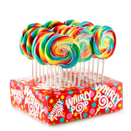 "4"" Whirly Lollipops Rainbow 48 Units 1 Case"