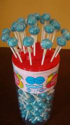 Vidal Lotta Lollies Light Blue Lollipops 150 count
