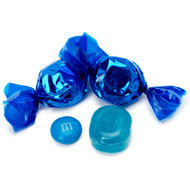 Wrapped Hard Candy Blue Peppermint Flavor 2.5 Lbs