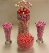 Pink Candy Buffet Candy Kit Serves 40 - 50 Guests Candy Station with 150 Lollipops