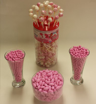 Candy Station Color Pink Serves 40 - 50 Guests Candy Table Kit with Jordan Almonds
