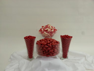 Red Candy Station Kit Serves up to 35 Guest - Candy Buffet Arrangements with Jordan Almonds