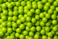Sixlets Candy Coated Chocolate Lime Green Case (12 Pounds)