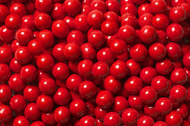 Sixlets Red 12 Pound Case Candy Coated Chocolate