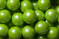 Gumballs Shimmer Pearl Lime Green 12 Pounds