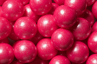 Gumballs Shimmer Pearl Bright Pink 2 Pounds