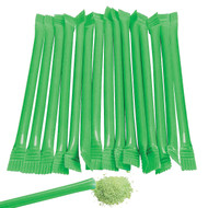 Sugar Candy Straws Green 240 Count Watermelon Flavor