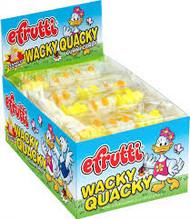 E.Frutti Efrutti Wacky Quacky Gummy Candy 24 Pack Box