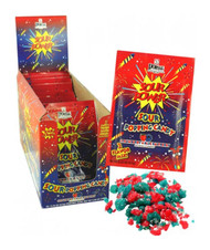 Power Sour Popping Candy Strawberry & Blue Raspberry 18 Pouches