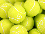 Tennis Bubble Gumballs Unwrapped Bulk 2.2 Pounds