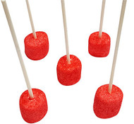 Marshmallow Cake Pops- Red 50 Count