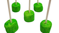 Marshmallow Cake Pops- Green 50 Count