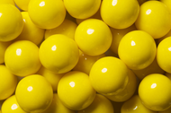 Gumballs Shine Yellow 2 Pounds Bulk Bag