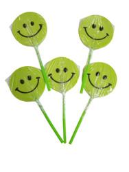 Happy face Green Lollipop 12 Count