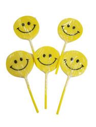 Happy face Yellow Lollipop 12 Count