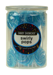 Swirly Round Pops Blue 24 Count