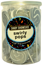 Swirly Round Pops Silver 24 Count