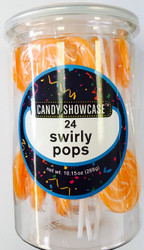 Swirly Round Pops Orange 24 Count