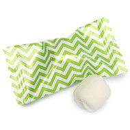 Chevron Kiwi Green/white Buttermints 100 Count