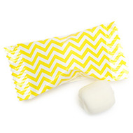 Chevron Yellow/white Buttermints 100 Count