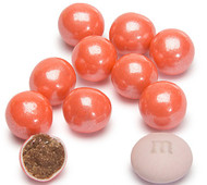 Sixlets Candy Coated Chocolate Shimmer Coral 2 Pounds