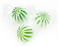 Green and White Lime Crazy Mini Candy Balls 2 LBS