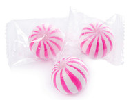 Pink and White Strawberry Crazy Mini Candy Balls 2 LBS