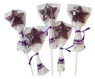 Bendy Pop Long Star Shaped Purple Lollipop
