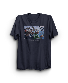 The Boston Tea Party Retro Shirt Navy
