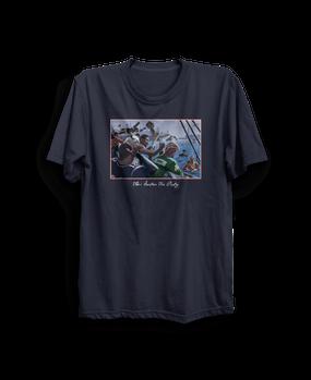 The Boston Tea Party Retro Shirt Navy