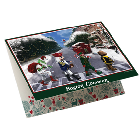Holiday Boston Common Greeting Card