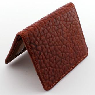 Vintage Bison Peanut Slim Wallet