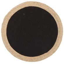 Alpine Black Jute 240cm Round