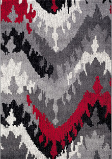 Luxe 4102 Red Modern Rug