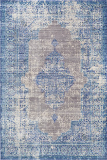 Allure Silk 1000 Blue Modern Rug