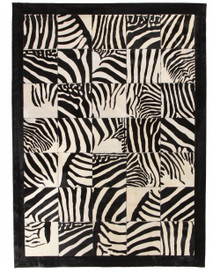 Spanish Carousel Patchwork Leather Zebra 170x230cm