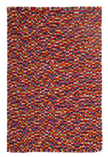 Gumball Felted Wool Multi Rug