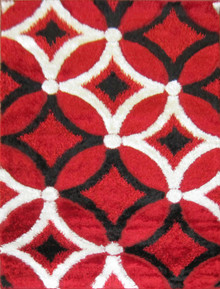 Amore Luxury 6048 Shaggy Red Rug