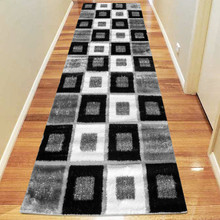 Amore Luxury 1206 Grey 80x300cm Shaggy Runner