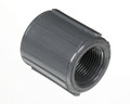1 Gray Threaded Coupling Fipt x Fipt PVC Fitting Schedule 80