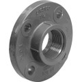 "4"" PVC Flange, Schedule 80, Solid Style, Fipt"
