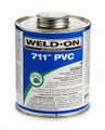 "Weld-On Cement, Heavy Bodied, #711, Gray, 1/2"" Pint"