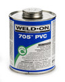Weld-On Low VOC Solvent Cement GLUE, Clear #705, 1 Pint