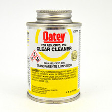 Oatey Clear Cleaner for PVC, CPVC, ABS - 1/4 Pint (30779)