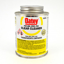 Oatey Clear Cleaner for PVC / CPVC / ABS - 1/2 Pint (30782)
