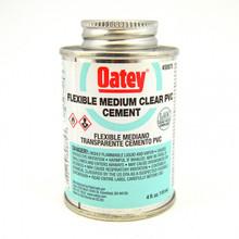 Oatey Medium Body Clear Flexible PVC Cement - 1/4 Pint (30875)